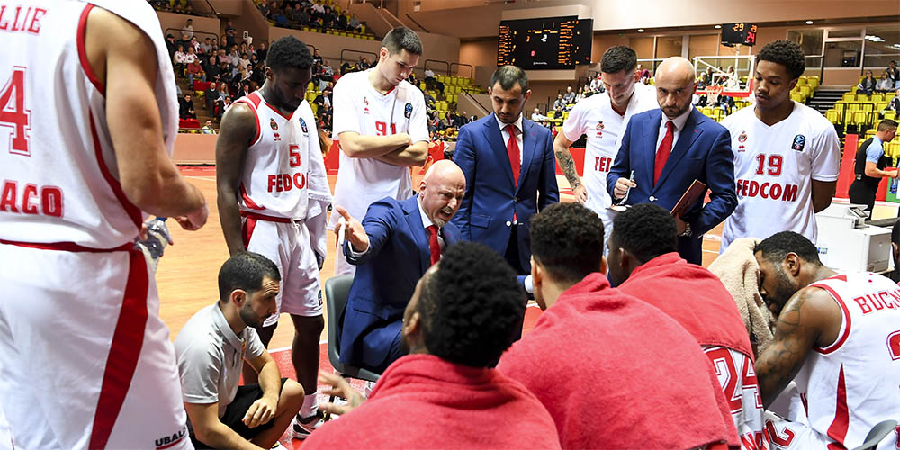 Zoom sull'allenatore dell'AS Monaco basket